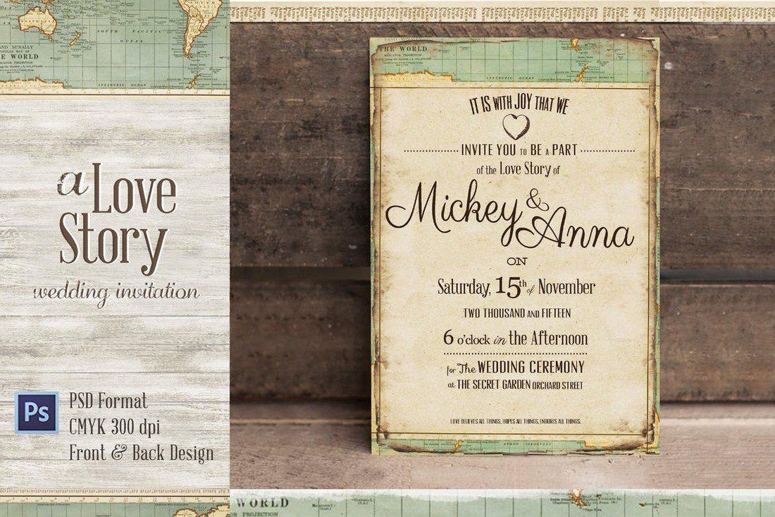 Journey Wedding Invitation