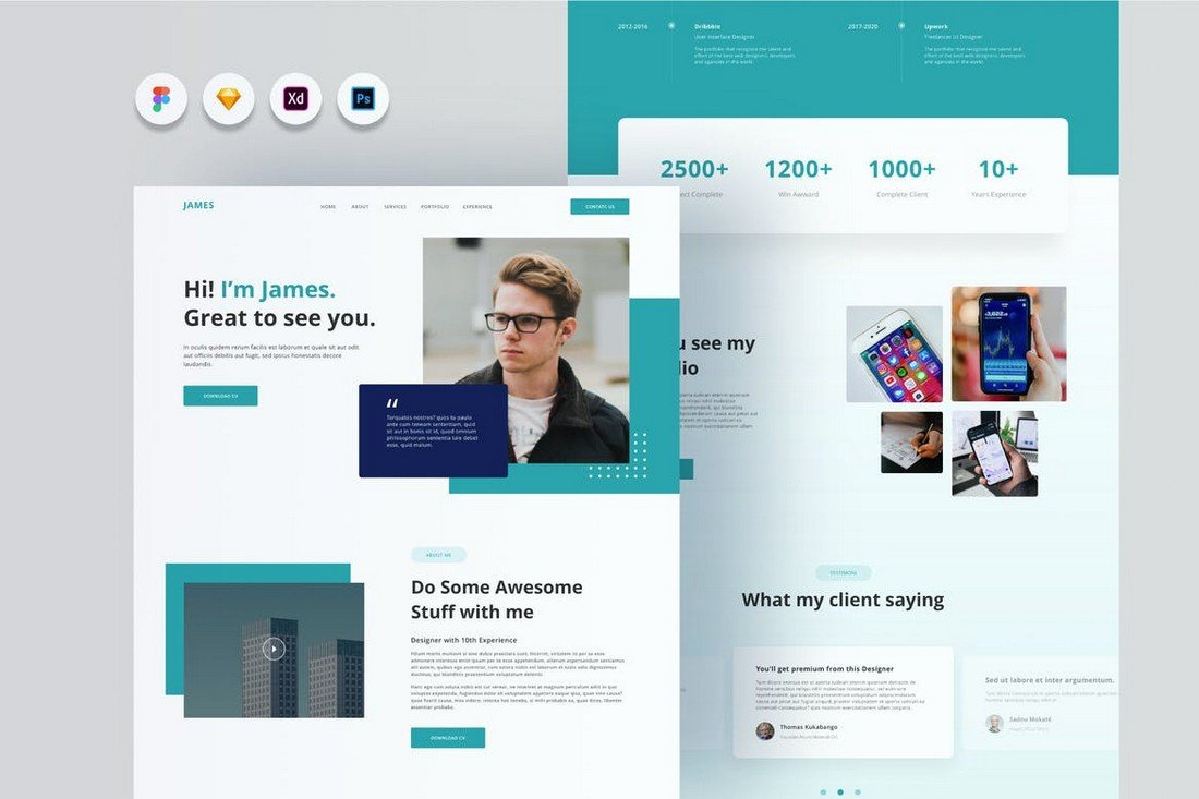 Joyboy - Personal Website Template for Adobe XD