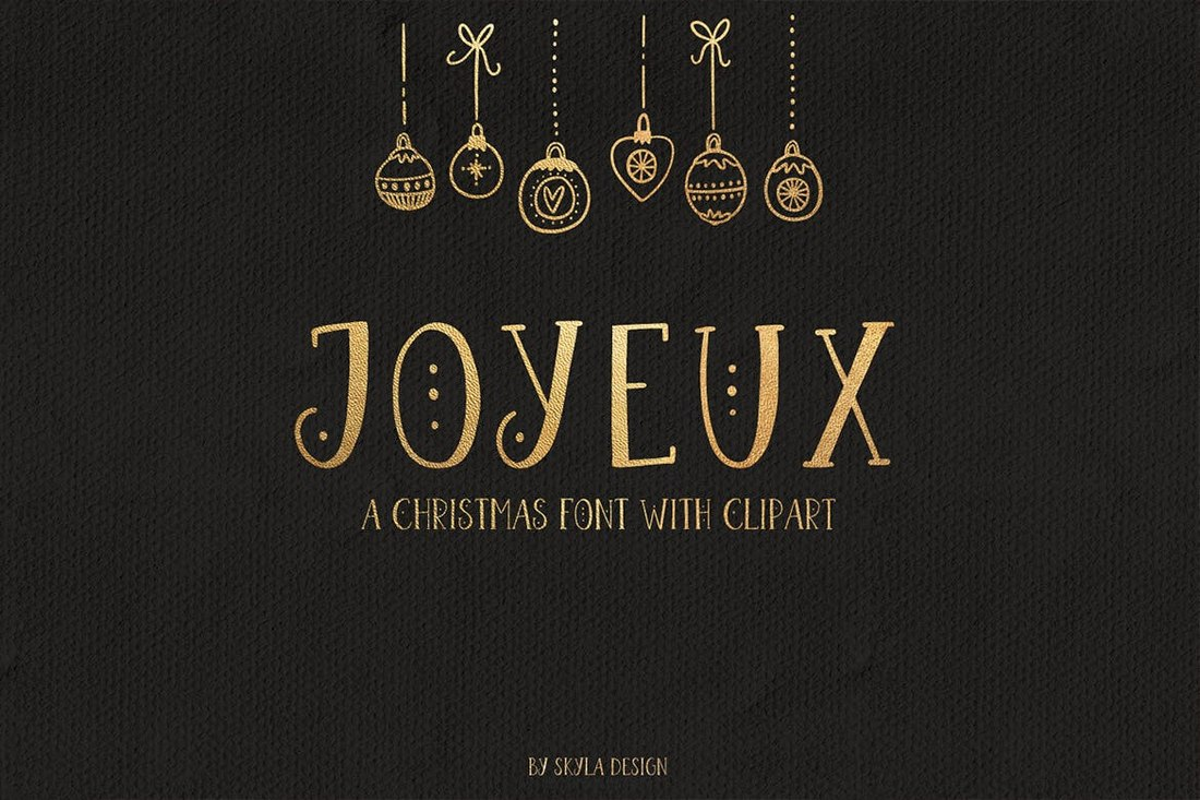 Joyeux - Decorative Christmas Font