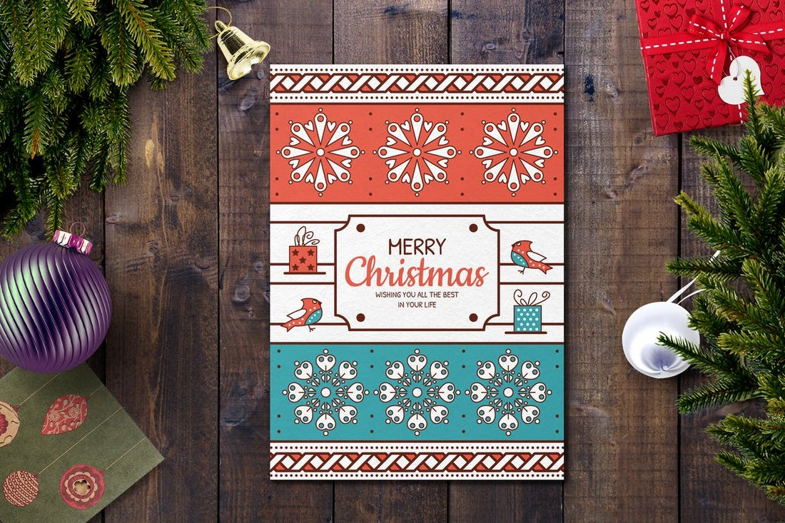 Joyful Christmas Card Template