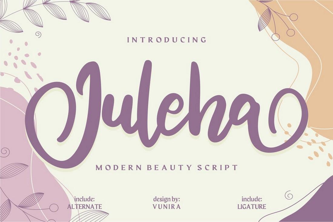 Juleha - Hand-Drawn Script Font