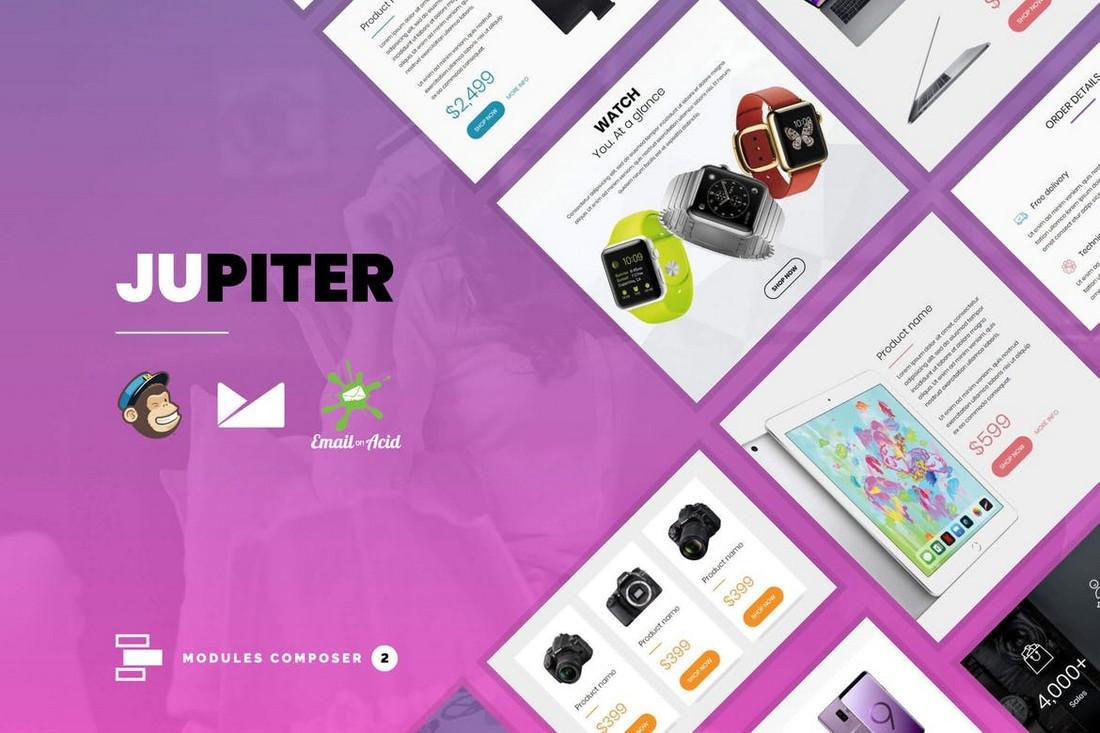 Jupiter-Modern-Email-Template-for-Online-Stores 40+ Modern Responsive Email Templates 2021 design tips