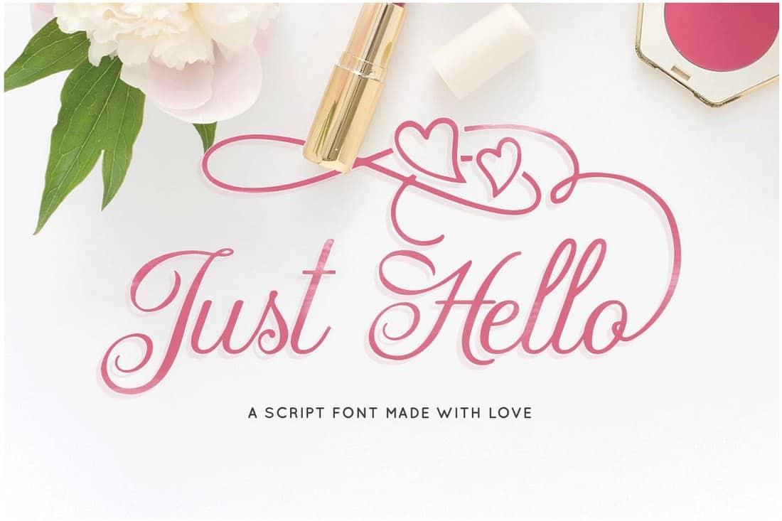 Just Hello - Elegant Script Font