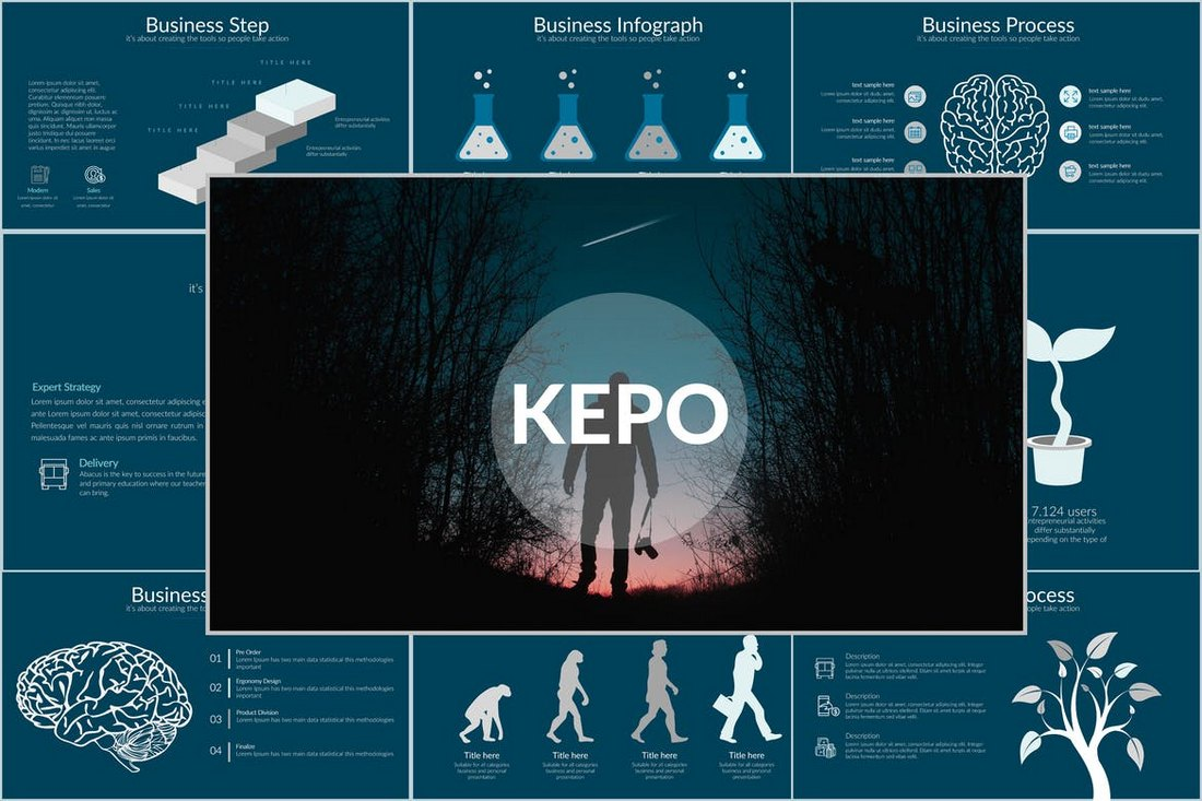 KEPO-Minimal-Cool-Powerpoint-Template 20+ Best Cool PowerPoint Templates design tips