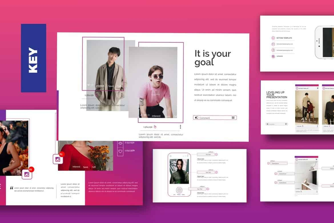 KETON - Stylish Keynote Template