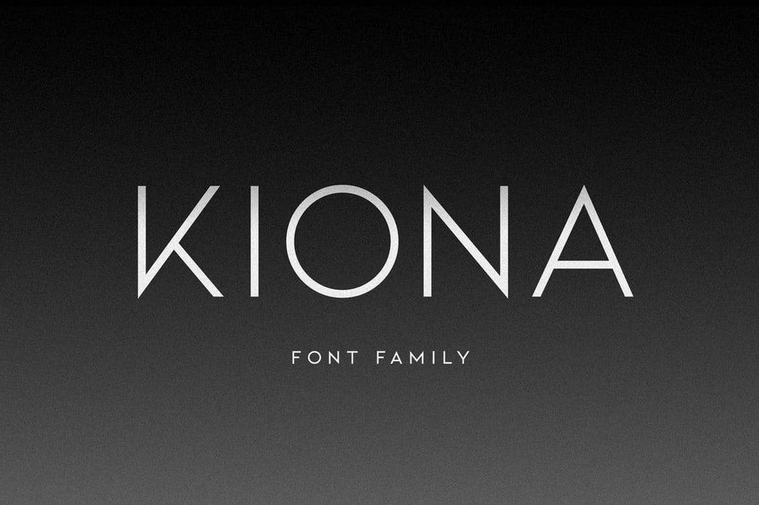 KIONA-Modern-Font 30+ Best Fonts for Business Cards design tips