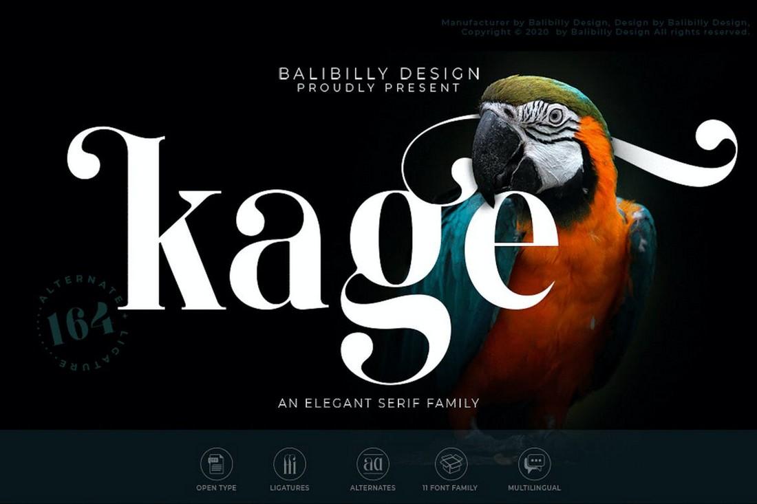 Kage - Elegant Serif Poster Font