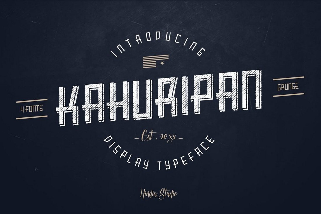Kahuripan 40+ Best Condensed & Narrow Fonts of 2019 design tips