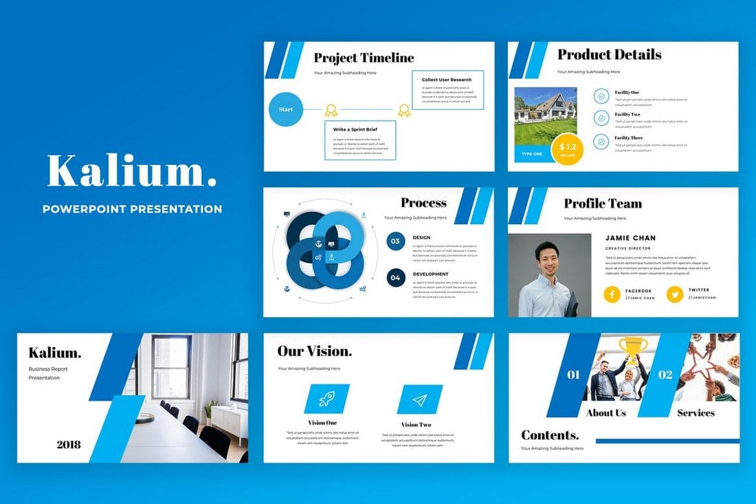 20 modern professional powerpoint templates design shack featuring a professional design kalium powerpoint template is most suitable for creating presentations for corporate businesses brands and agencies flashek Gallery