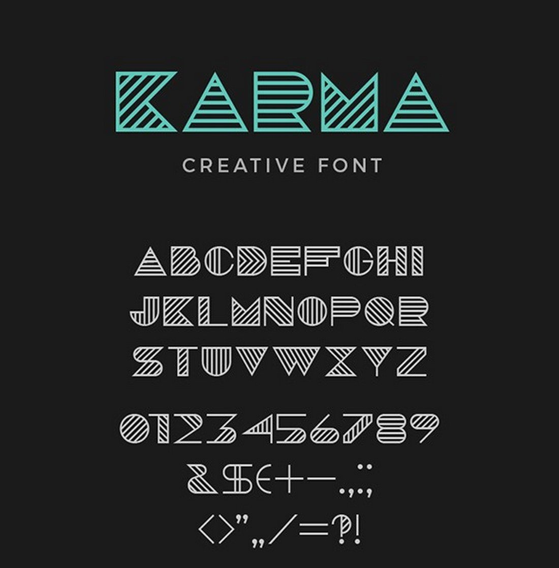 Karma-Creative-Font 40+ Best Number Fonts for Displaying Numbers design tips