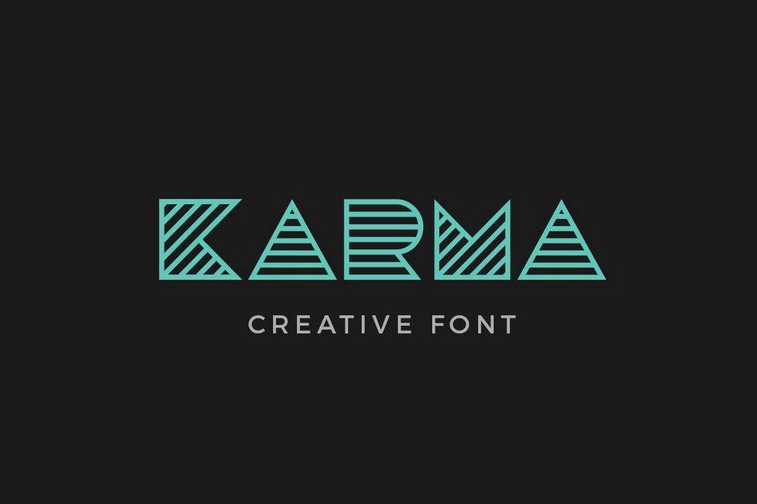 Karma 25+ Best Monogram Fonts design tips