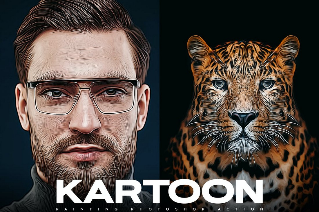 Kartoon Painting Photoshop Action