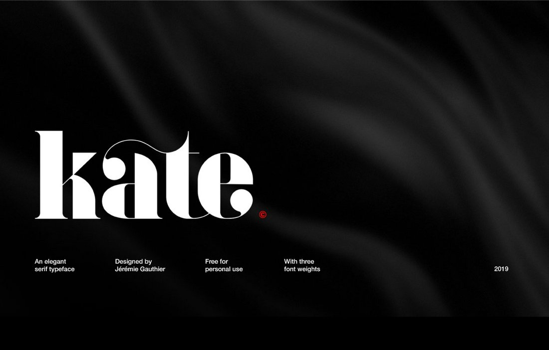 Kate - Free Elegant Serif Font
