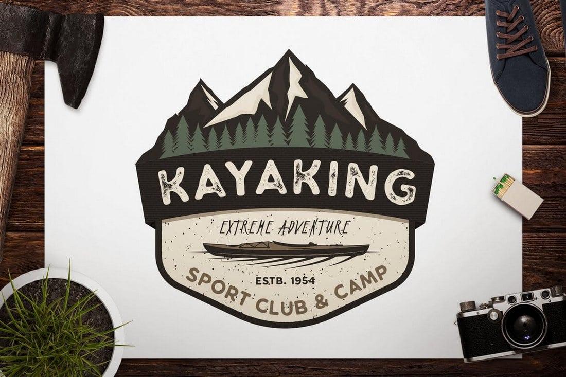 Kayak Retro Badge