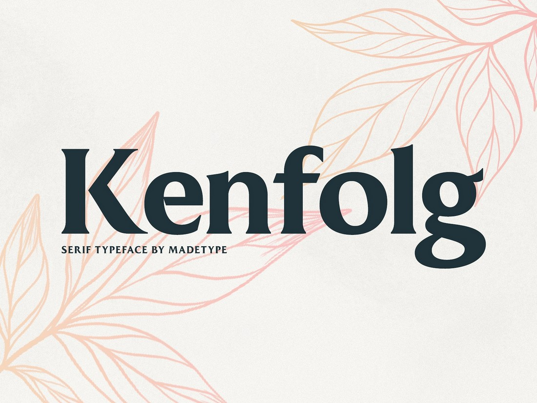 Kenfolg - Free Modern Serif Font