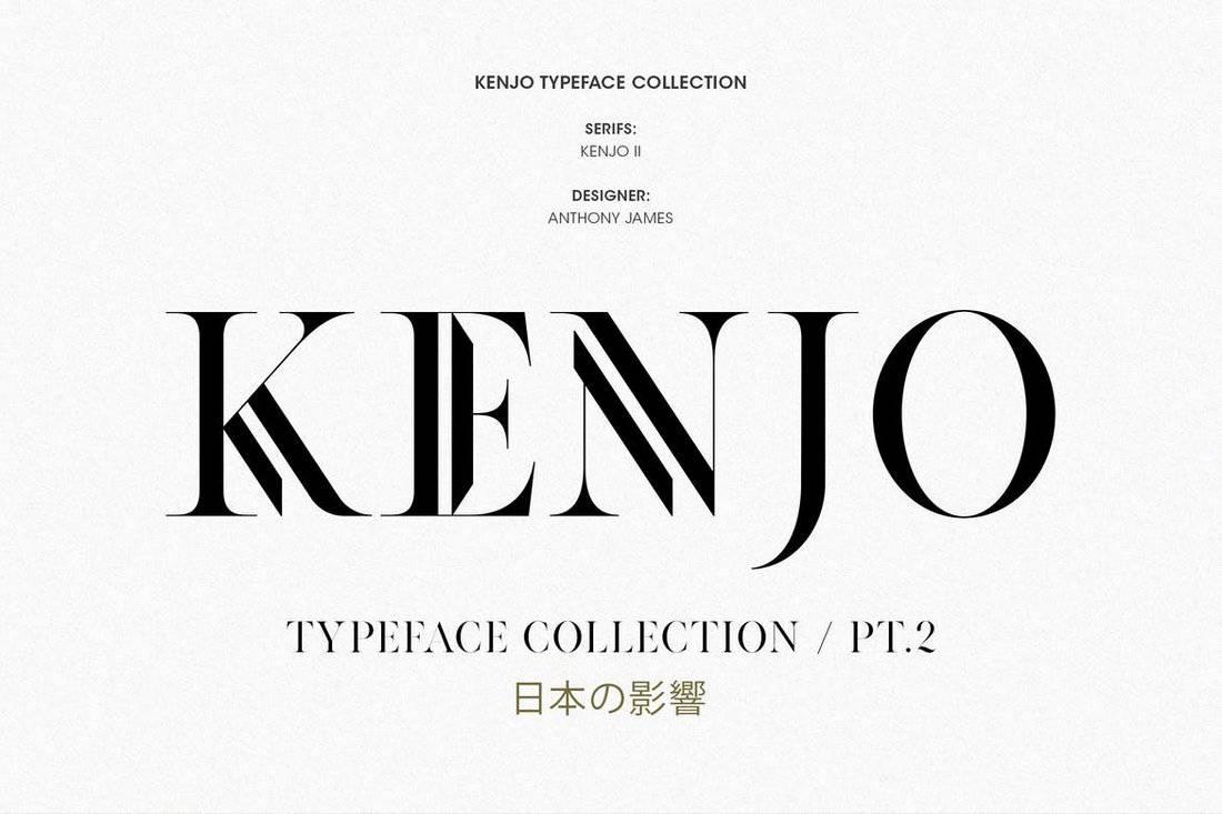 Kenjo - Modern Serif Font