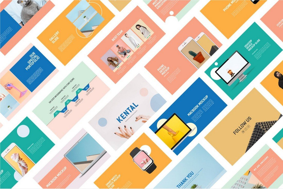 Kental - Free Colorful PowerPoint Template