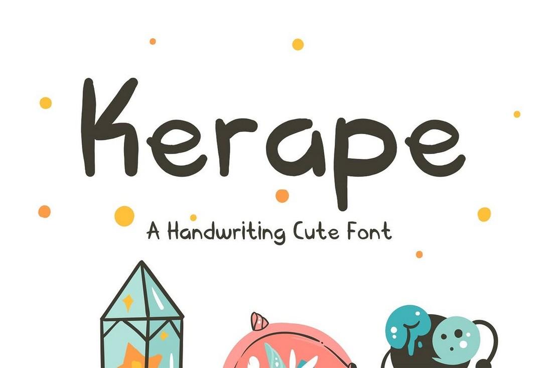 Kerape - Cute Handwriting Procreate Font