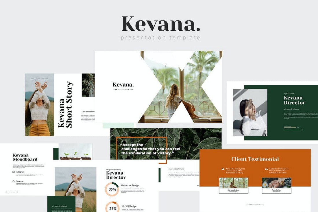 Kevana - Natural Powerpoint Template