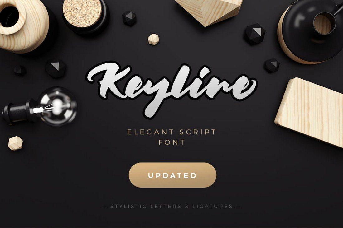 Keyline-Script-Font 30+ Best Hand Lettering Fonts design tips
