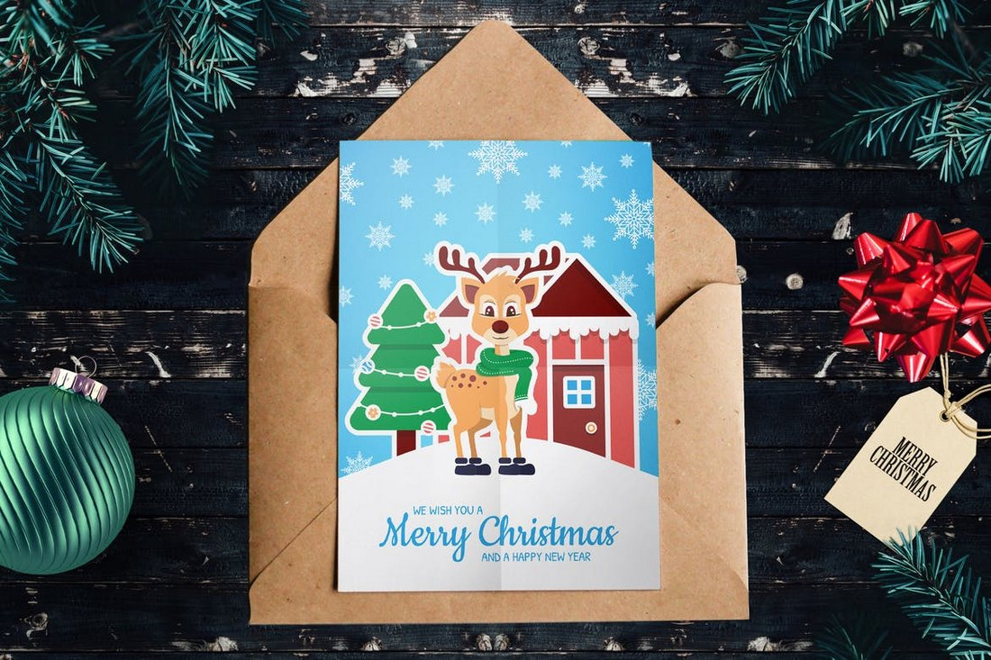 Kids-Christmas-Card-Template 20+ Best Christmas Card Templates for Photoshop design tips