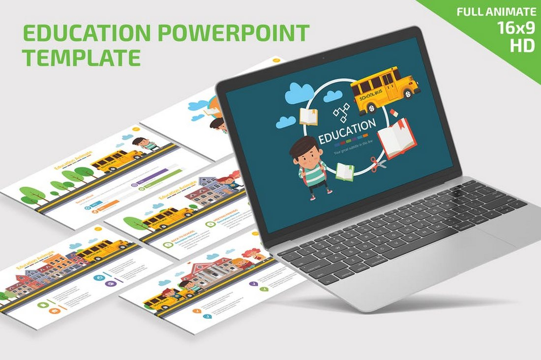 Kids Education - Colorful Powerpoint Presentation