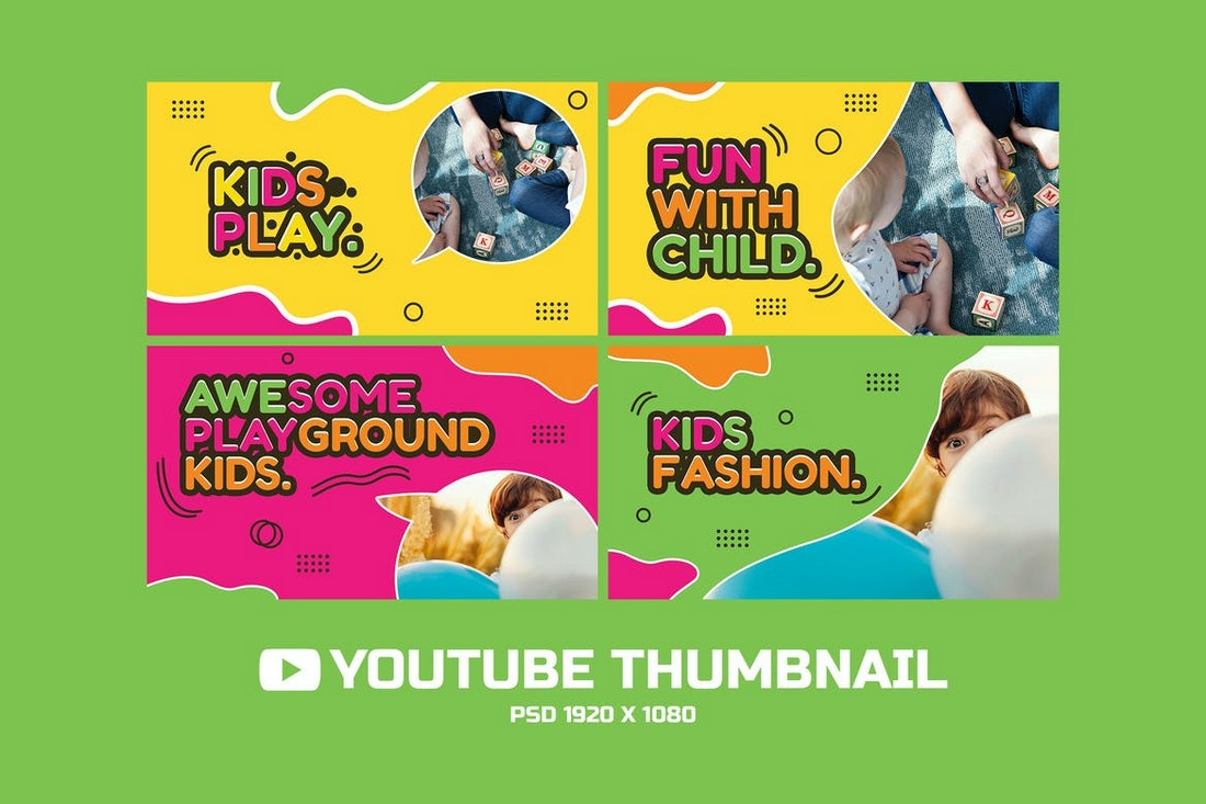 Kids Play - YouTube Thumbnails for Kids Channels