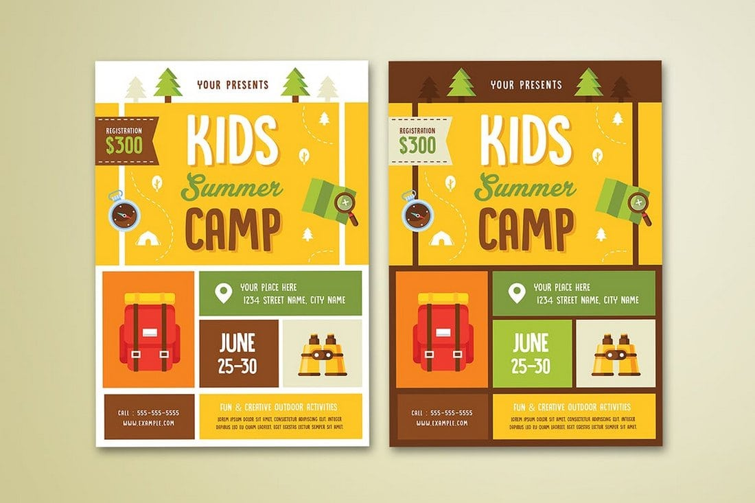 Kids-Summer-Camp-Flyer 20+ Best Event Flyer Templates design tips