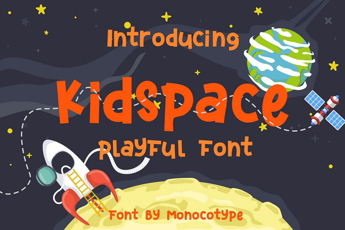 Kidspace - Free Playful Space Font