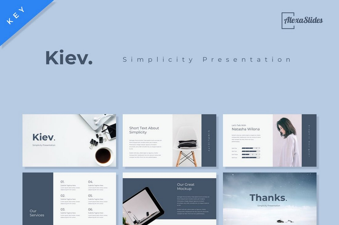 Kiev-Keynote-Presentation-Template 30+ Best Minimal & Creative Keynote Templates design tips