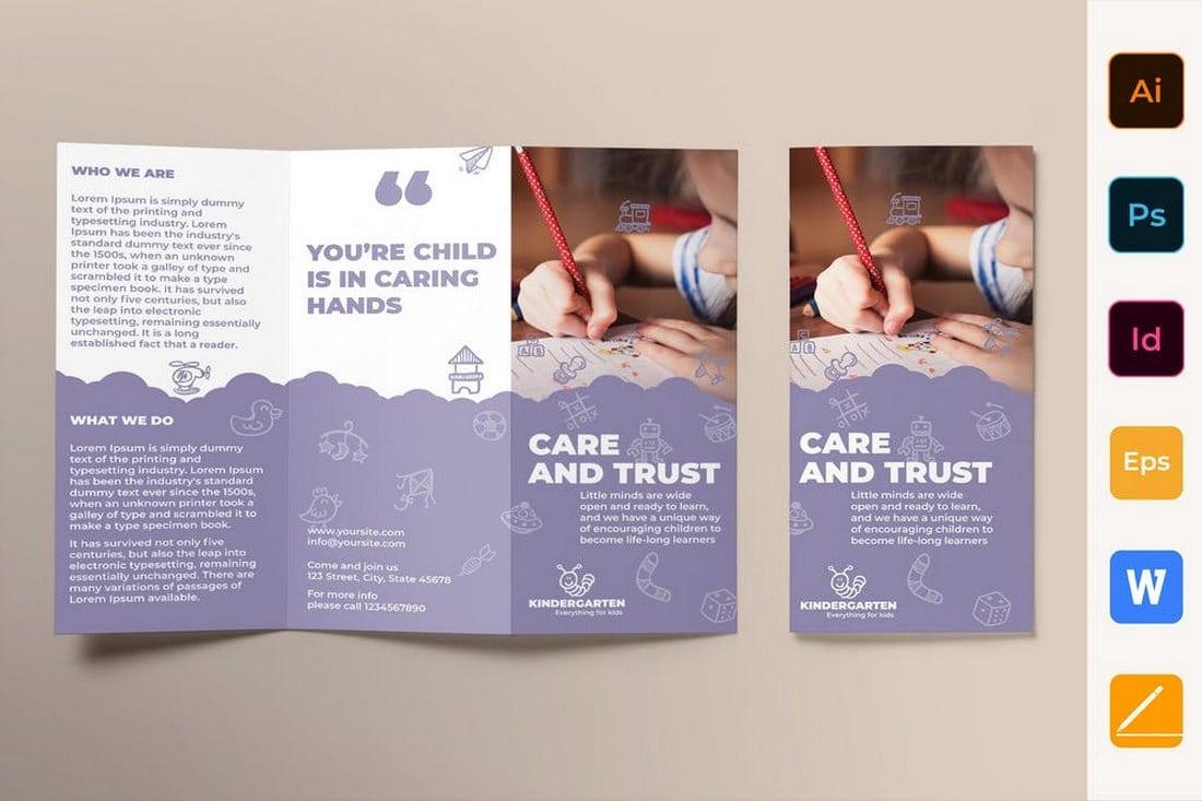 Kindergarten Brochure Trifold