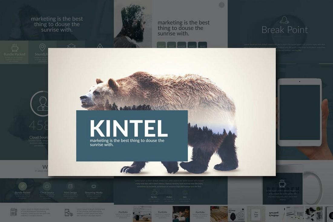 Kintel - Modern Portfolio Powerpoint Template