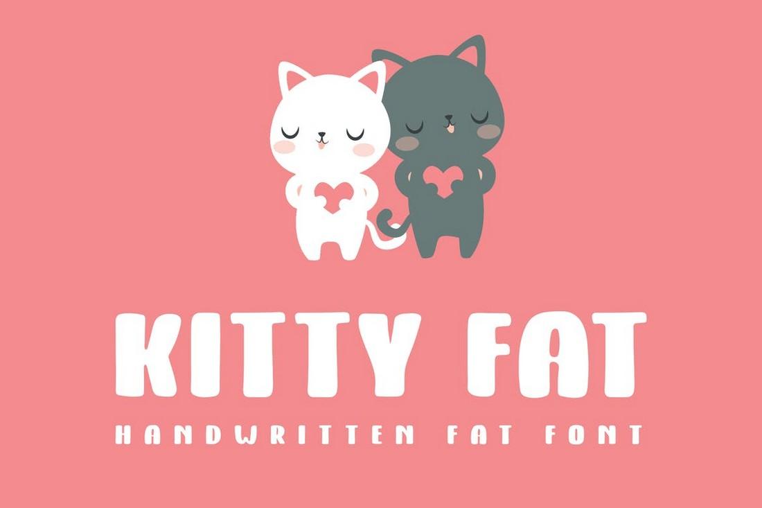 Kitty Fat - Handwritten Fat Font