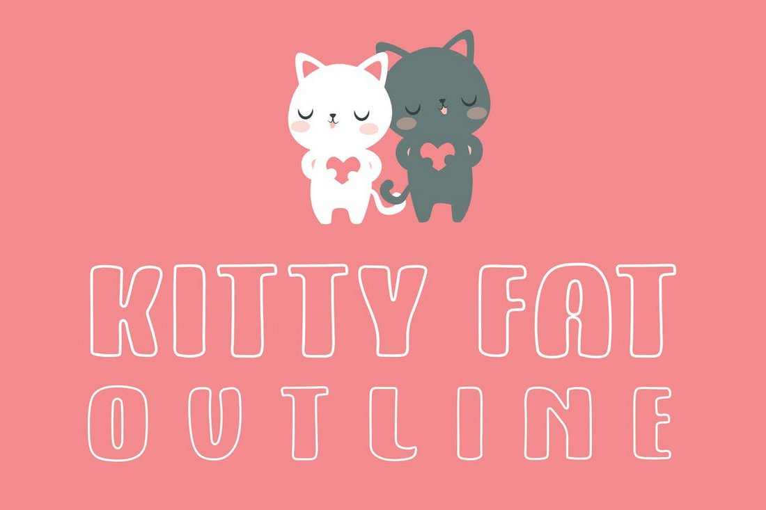 Kitty Fat - Outline font