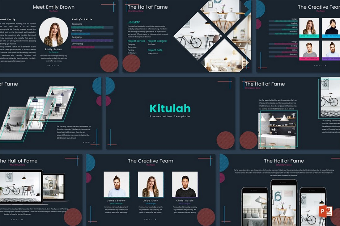 Kitulah - Free Dark Professional PowerPoint Template