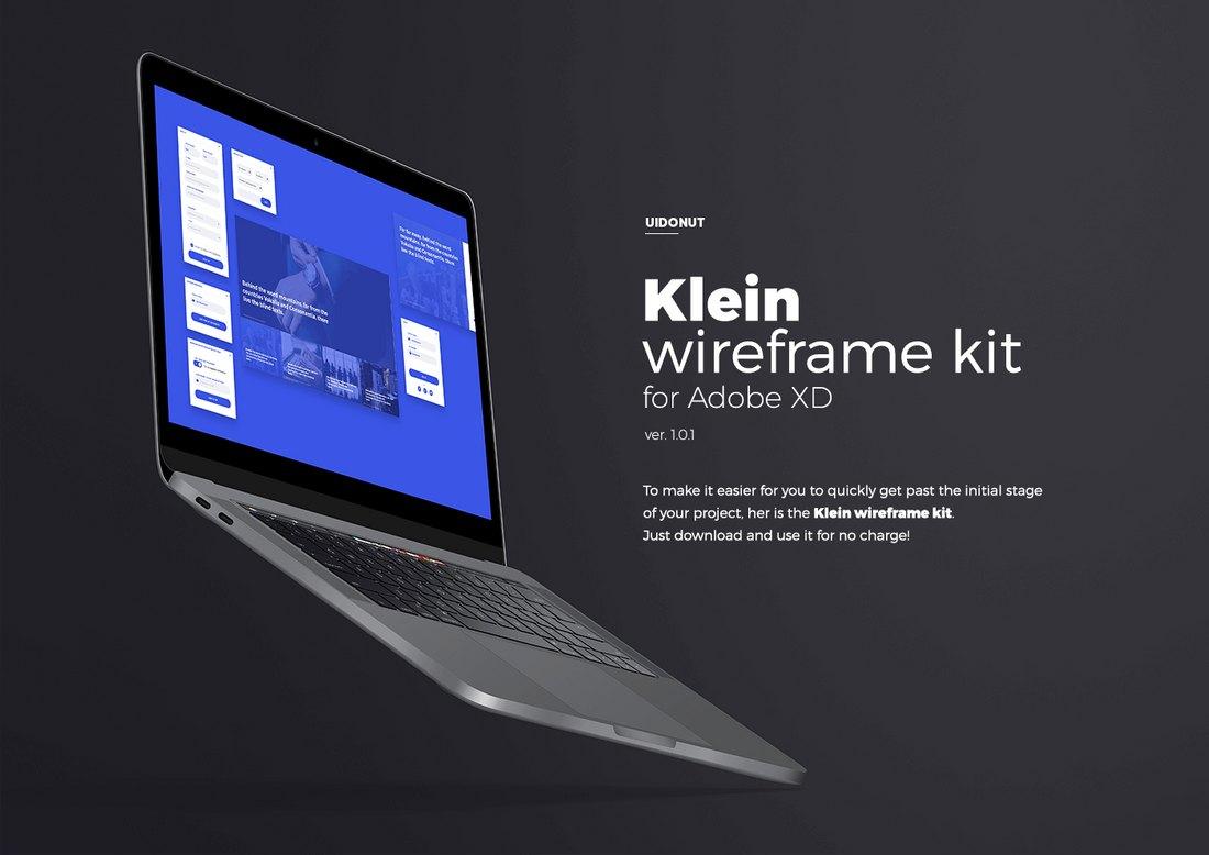 Klein - Free Adobe XD Wireframe Kit