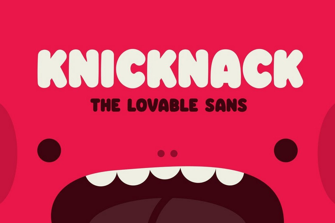 Knicknack - Fun YouTube Font