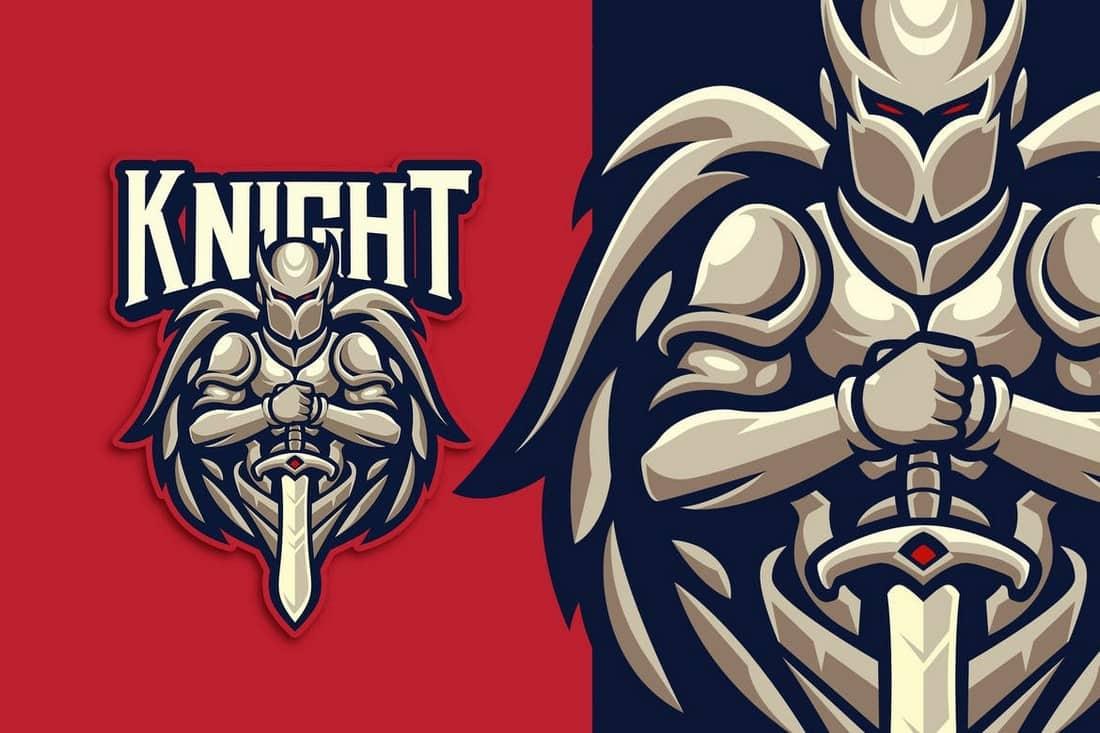 Knight-Esport-Logo-Template 40+ Best Photoshop Logo Templates (PSD) design tips