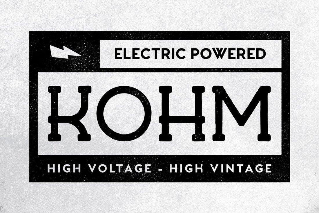 Kohm - Vintage Serif Font