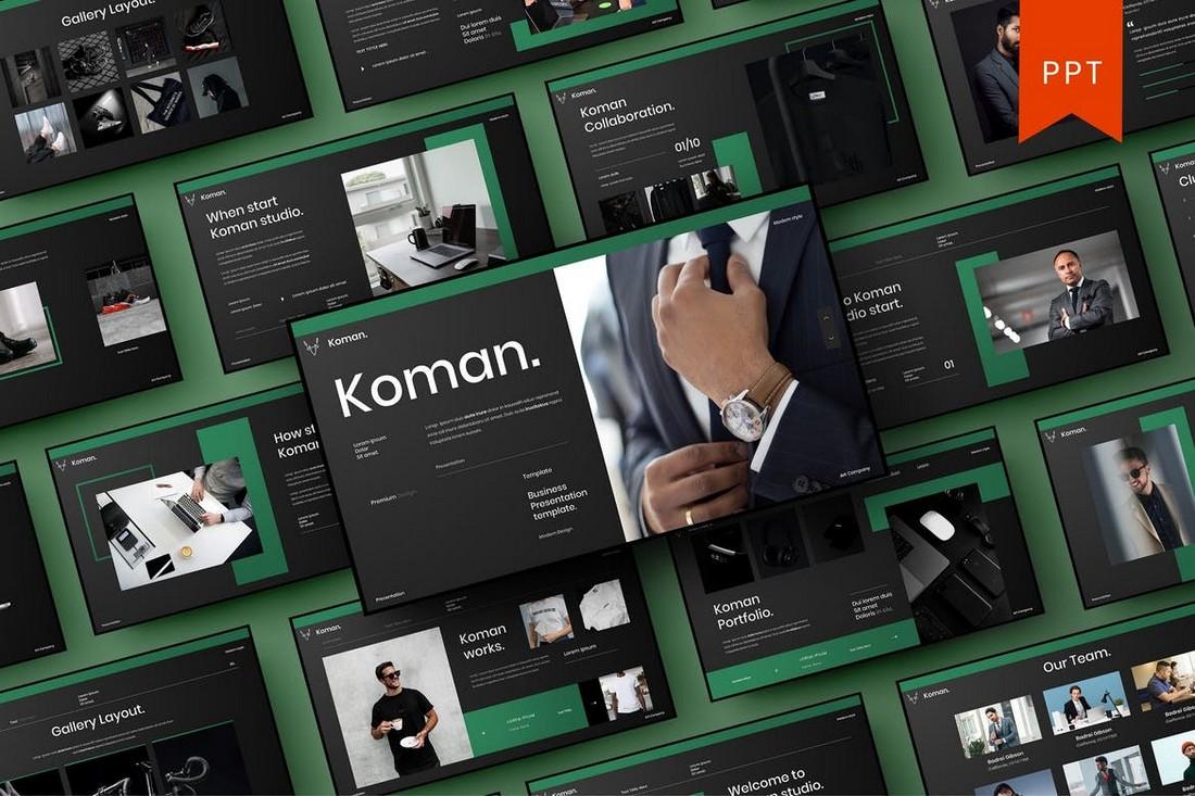 Koman – Modern Business PowerPoint Template
