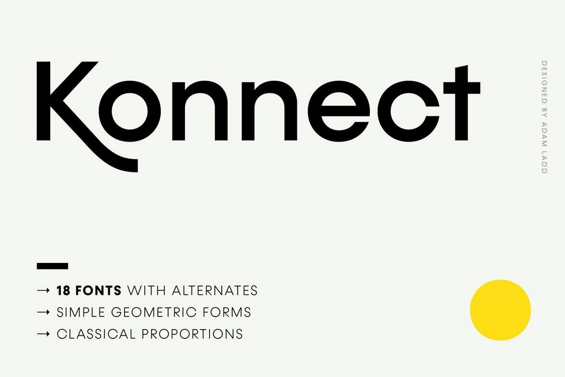 Konnect - Geometric Font Family