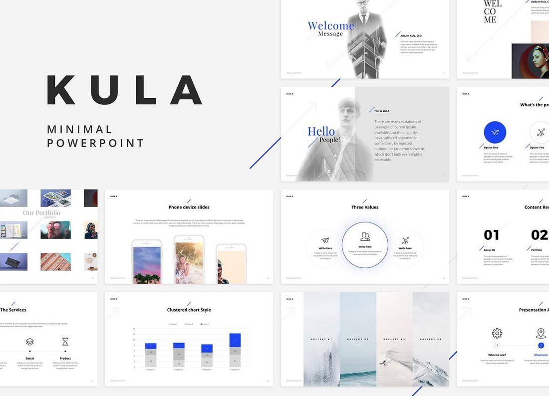 Kula - Free Minimal Keynote Template