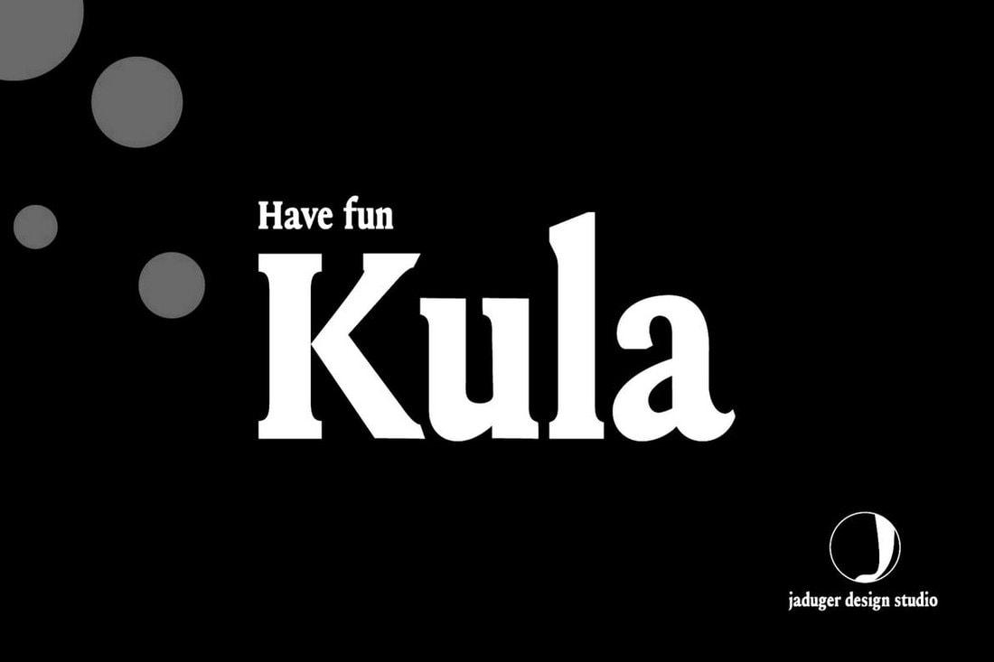 Kula - Modern Slab Serif Font
