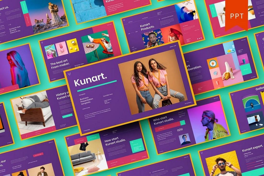 Kunart – Creative PowerPoint Template