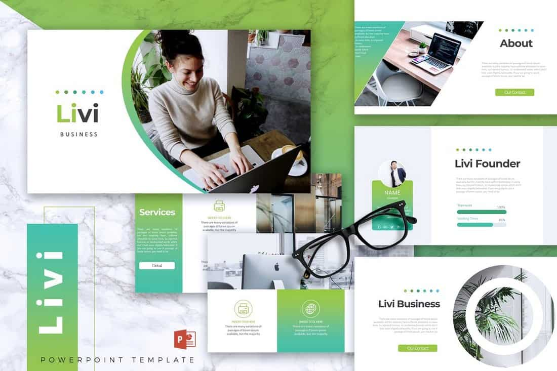 LIVI - Business Powerpoint Template