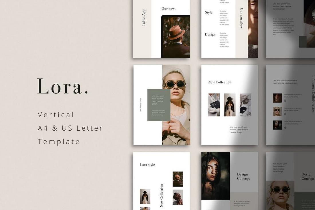 LORA - Vertical Powerpoint Template