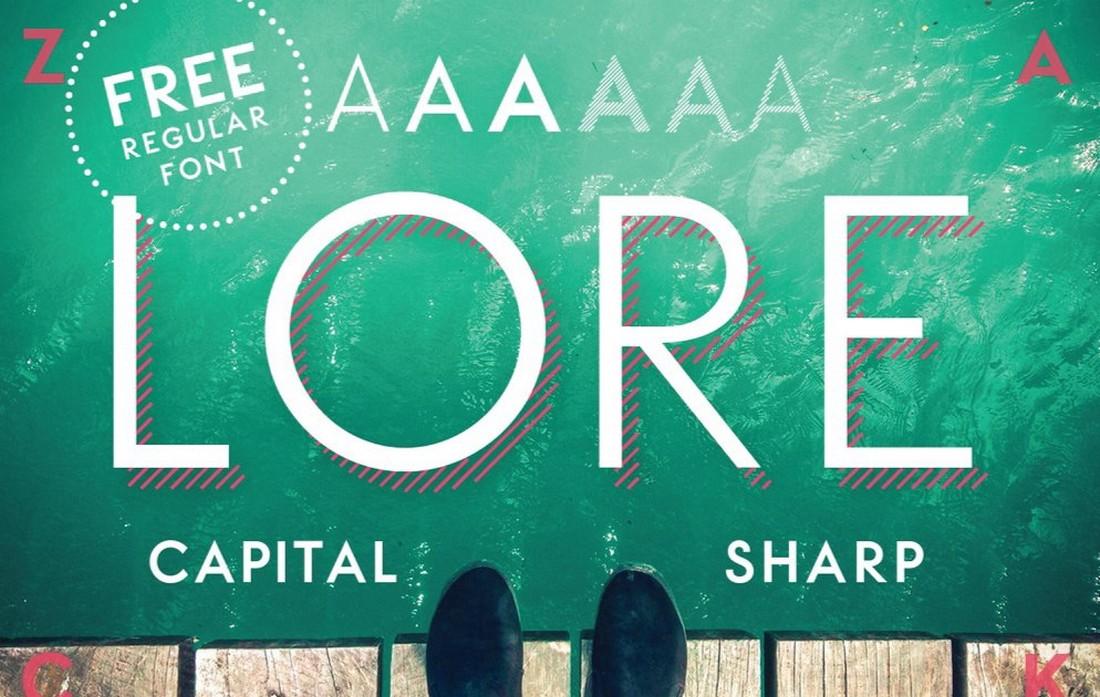 LORE - Free Vintage Geometric Font