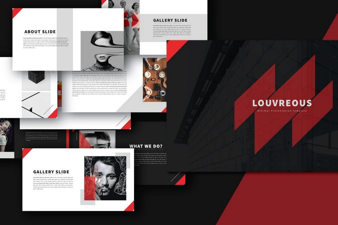 20 best powerpoint templates of 2018 design shack louv is a presentation template that features a luxury design that makes it perfect for promoting a high end product or a luxury business toneelgroepblik Images