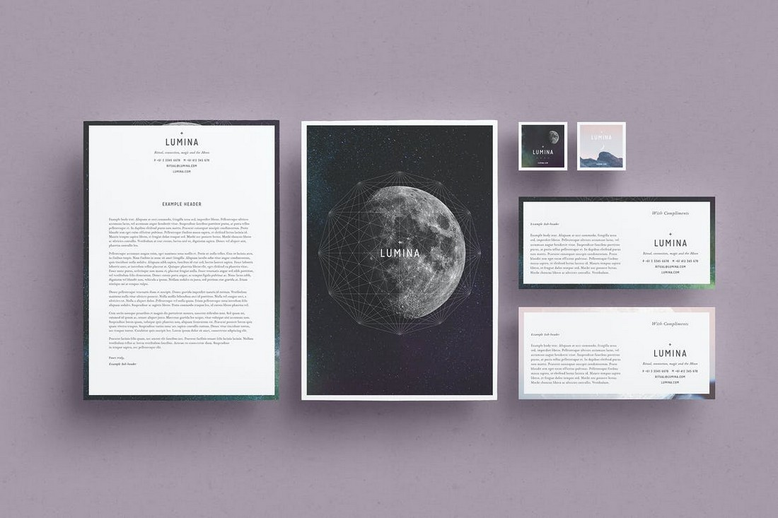 LUMINA - Letterhead Design Template