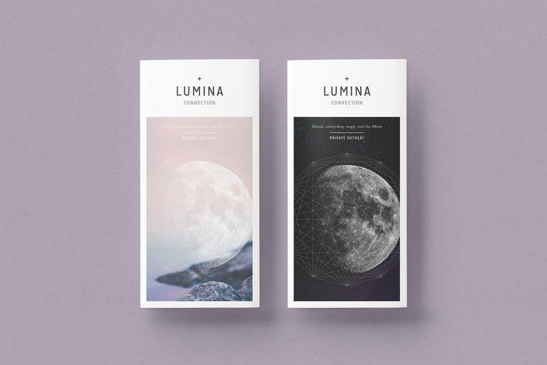 LUMINA - Minimal Trifold Brochure